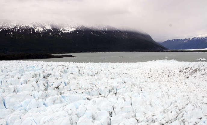 Le glacier Colony au nord d'Anchorage, en Alaska.