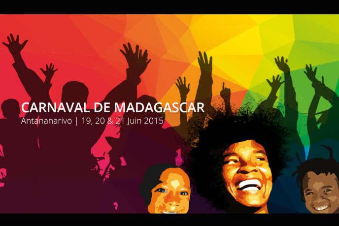 L'affiche du premier carnaval de Madagascar, du 19 au 21 juin.