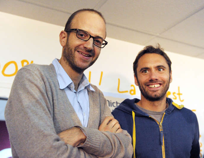 Les dirigeants de Michel et Augustin, Michel de Rovira et Augustin Paluel-Marmont, au siège de l'entreprise,