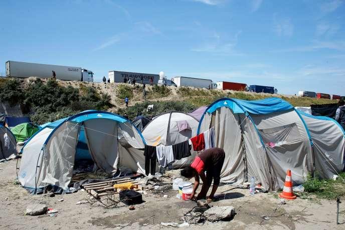 La «jungle» de Calais, le 24 juin 2015.