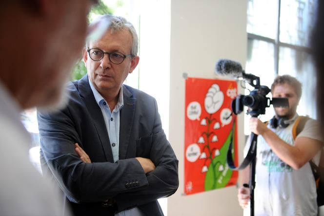Le secrétaire national du Parti communiste français, Pierre Laurent, le 25 juin 2015 à Toulouse.