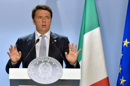 Le premier ministre italien Matteo Renzi à Bruxelles, le 26 juin.