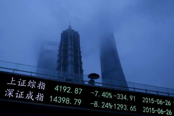 La croissance du produit intérieur brut de la Chine est «tombée» à 7,4% en2014, en deçà de l'objectif officiel.