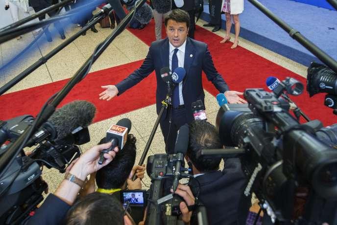 Matteo Renzi le 25 juin à Bruxelles.