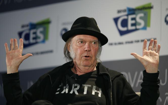 Neil Young en janvier 2015, lors du salon de l'électronique CES à Las Vegas.