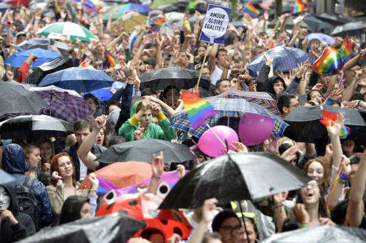 Marche LGTB à Stasbourg, le 28 juin2014.