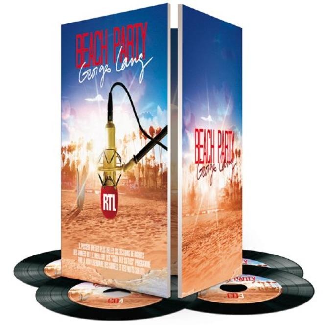 Le coffret « Beach Party par Georges Lang », compilation de 112 chansons des années 1960.
