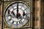 L'horloge de Big Ben, à Londres, en pleine maintenance.