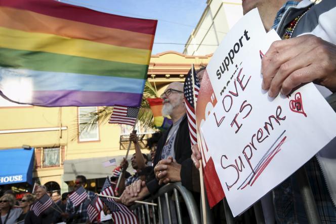 Scènes de joie après la décision de la Cour suprême, à San Francisco, le 26 juin.
