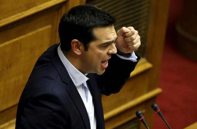 En pleine nuit du vendredi au semedi 27 juin, Alexis Tsipras annonce un référendum pour le 5 juillet sur le plan proposé par les créanciers.