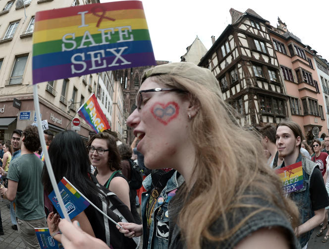 Gay pride à Strasbourg , le 13 juin.