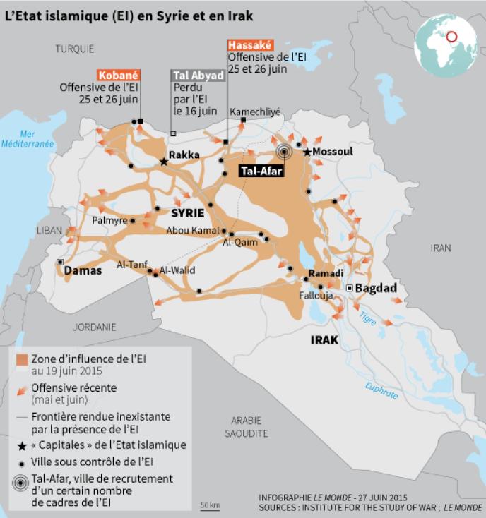 L'Etat islamique en Syrie et en Irak.