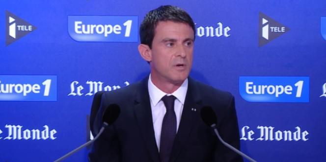 """Le premier ministre, Manuel Valls, était l'invité du « Grand Rendez-Vous Europe1 i-Télé """"Le Monde"""" », dimanche 28 juin."""