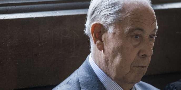 Charles Pasqua, le 8 avril 2014 à la cour d'appel de Paris.