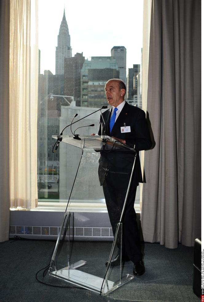 Alain Juppé au siège des Nations unies à New York, le 29 avril.