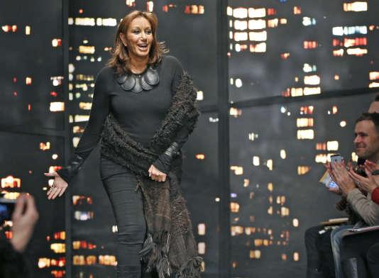 Donna Karan, fondatrice de la marque éponyme en 1984, avait quitté la direction à l'été 2015. Ici lors d'un de ses défilés, à New York le 16 février 2015.