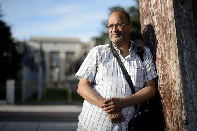 Ali Lmrabet, le 29 juin à l'extérieur du bureau des Nations-Unies à Genève.