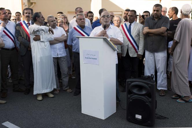 Le recteur de la grande mosquée de Lyon, Kamel Kabtane condamne l'attentat en Isère, le 28 juin, à Villefontaine.