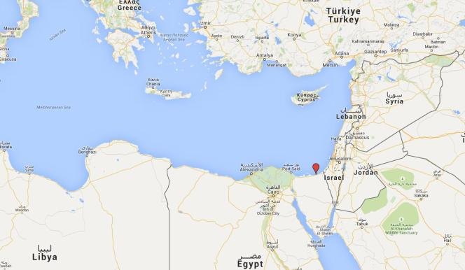 Carte de situation d'El-Arich, en Egypte.