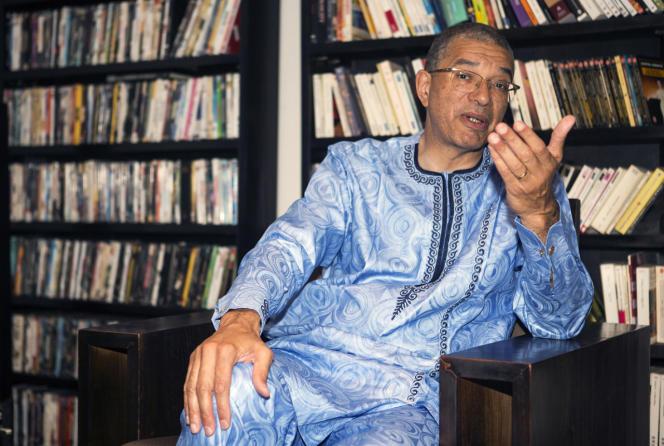 Lionel Zinsou chez lui à Cotonou, fin juin 2015.