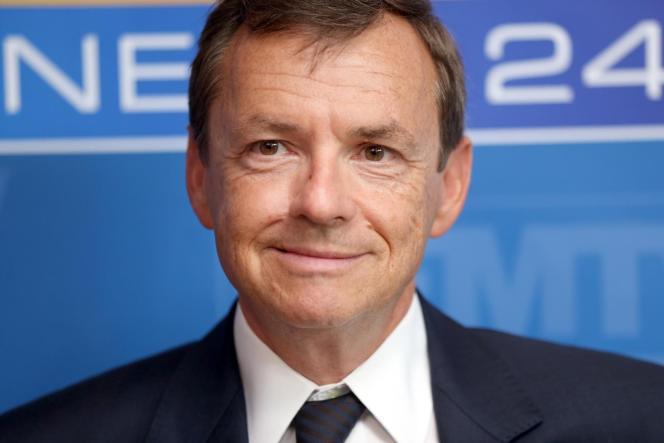 Le PDG de NextRadioTV, Alain Weill, le 28 août 2014.