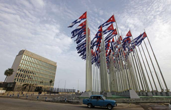 L'immeuble de la représentation diplomatique américaine à LaHavane, en septembre2013.