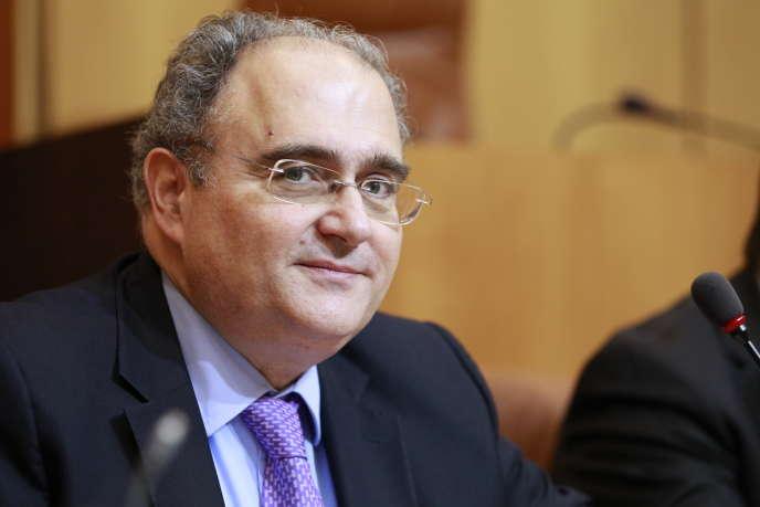 Paul Giacobbi au Conseil exécutif de Corse à Ajaccio le 24 avril 2014.