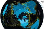 Photo : Plus de 250 cables sous-marins tissent le réseau Internet entre les cinq continents.