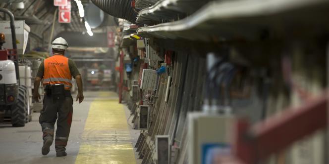 Photo prise en 2011 dans le laboratoire souterrain de l'Andra.
