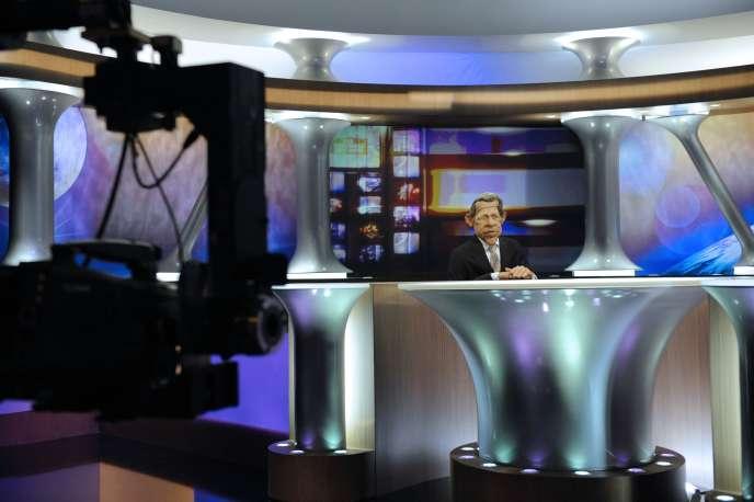 Sur le plateau de l'émission, le 11 février 2009.