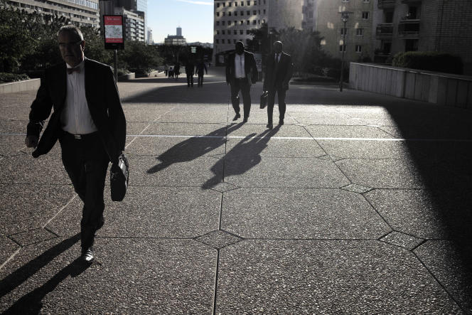 A La Défense, quartier d'affaires de Paris, le 14 octobre 2014.