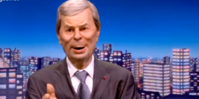 La marionnette de Vincent Bolloré, président du conseil de surveillance de Vivendi, groupe auquel appartient Canal +