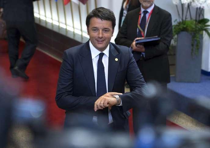 Le premier ministre italien, Matteo Renzi, à Bruxelles, le 26 juin.