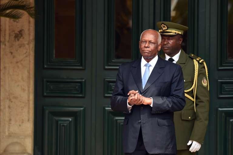 Le président angolais Jose Eduardo Dos Santos, le 3 juillet à Luanda.