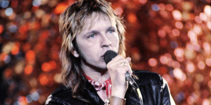 Le chanteur Renaud, le 30 décembre 1983.