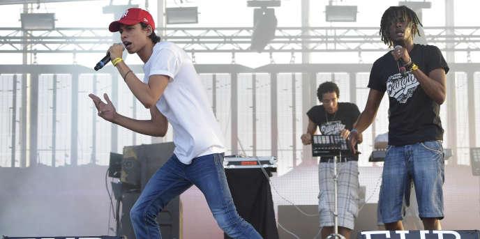 Giorgio sur la scène de la Plage, au Eurockéennes vendredi 3 juillet.