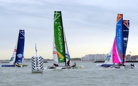 La voile fait son entrée dans le Top 10 des fédérations sportives françaises. Ici, une étape du Tour de France à la voile de 2015 à Dunkerque.