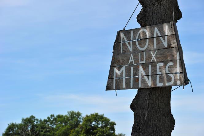 Le collectif Stop Mines 23 s'oppose a la relance minière par la societe canadienne Cominor.