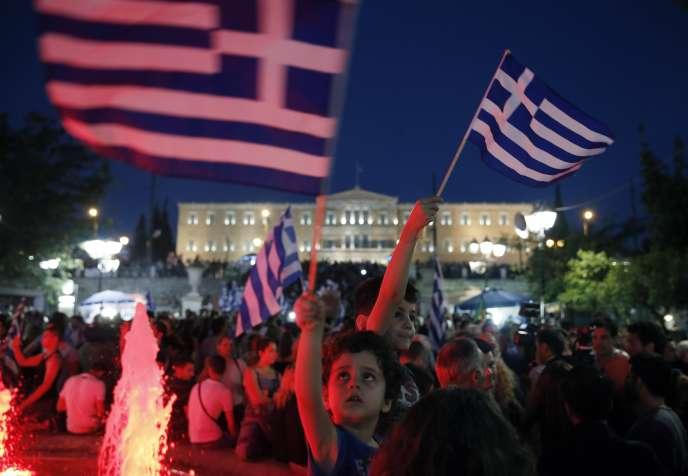 A Athènes, le 5 juillet.