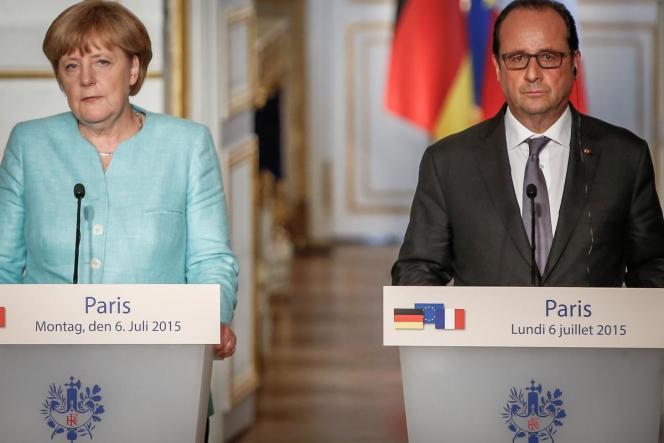 Après la victoire du non au référendum, un sommet de la zone euro aura lieu mardi. Le président français et et la chancelière allemande ont souligné « l'urgence » de la situation.