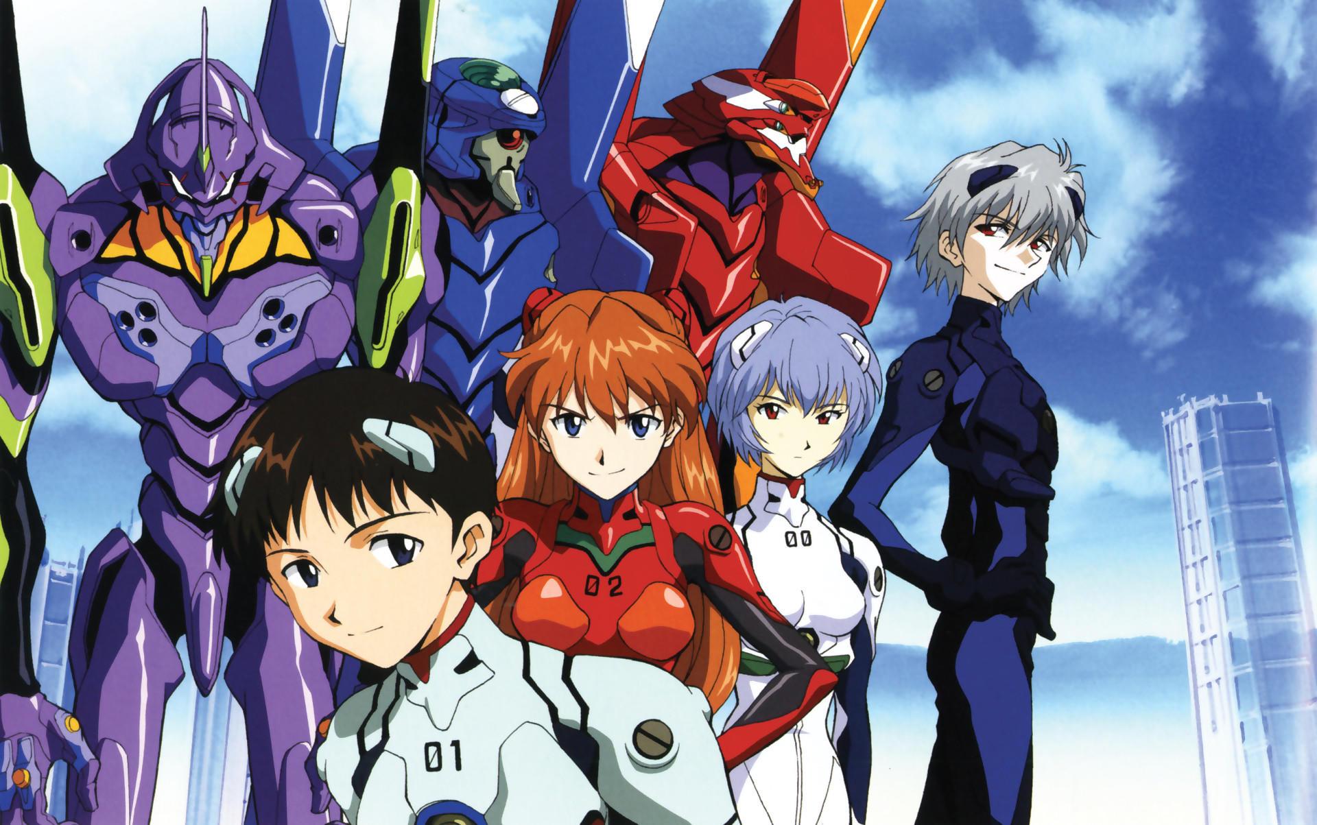 Les principaux personnages d'«Evangelion».