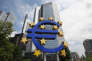 Devant la Banque centrale européenne, à Francfort-sur-le-Main