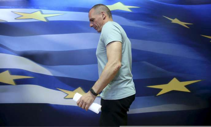 Yanis Varoufakis, fondateur du mouvement Diem 25 et ancien ministregrec des finances, à Athènes en 2015.