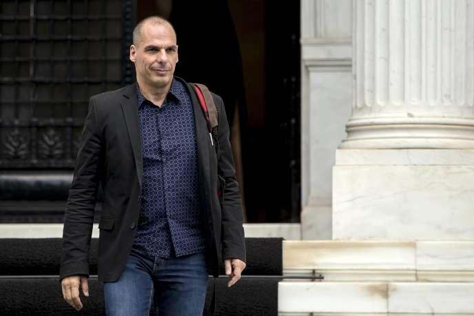 Yanis Varoufakis, après une réunion avec Alexis Tsipras, le 28 juin à Athènes.