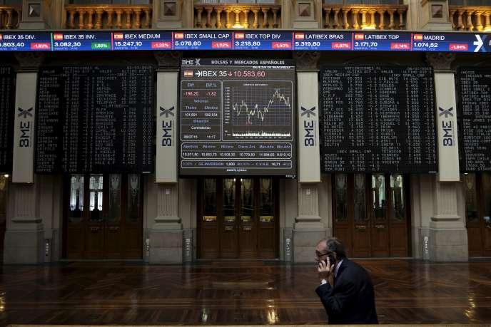 A la Bourse de Madrid, le 6 juillet.