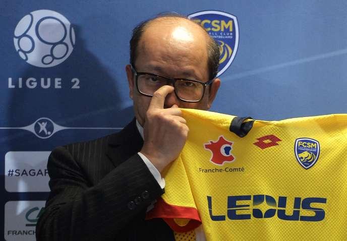 Wing Sang Li, ci-contre en juillet 2015, à Montbéliard,a démissionné le 2 avril dela présidence de Tech Pro, maison mère du FC Sochaux.