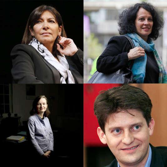Anne Hidalgo, L'ambassadrice Sylvie Bermann, la directrice de l'ENA, Nathalie Loiseau et Nicolas Gaume.