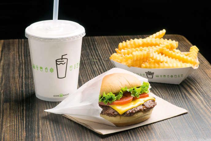 Aux Etats-Unis, la chaîne Shake Shak sert des burgers à base de viande garantie sans hormones ni antibiotiques.