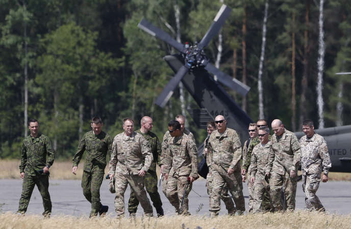 Soldats américains en Lituanie, le 7 juillet.