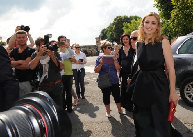 Julie Gayet à Saint-Emilion, le 13 juin 2015.